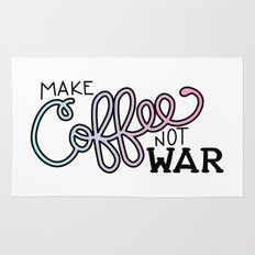 Coffee Not War (Cotton Candy) Rug