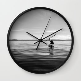 Triumph at Sea Wall Clock