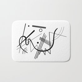 Kandinsky - Black and White Abstract Art Bath Mat