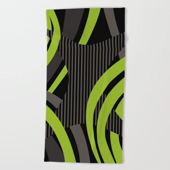 Green Wire Beach Towel