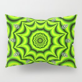 Spring Garden Mandala, Abstract Star Burst Delightful Spirals Pillow Sham