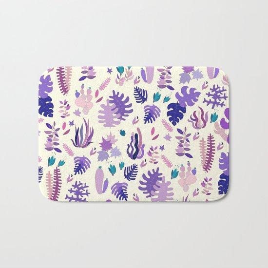 Purple Garden Bath Mat