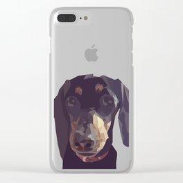 Geometric Sausage Dog Digitally Created Clear iPhone Case