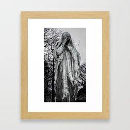 B&W Photography, Grief Framed Art Print