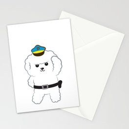 Animal police - Bichon Frisé Stationery Cards