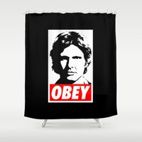 obey Shower Curtains featuring Obey Han Solo - Star Wars by YiannisTees