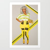 Freedom of Expression, White Wig Art Print