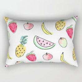 tutti fruitti watercolour pattern Rectangular Pillow