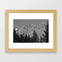 Gwin's Winter Vista - B & W Framed Art Print