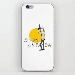 Sinon, un panda (4) iPhone Skin