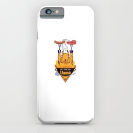 BBQ NO PROLlama BBQs grills grilling Barbecue BBQ iPhone Case