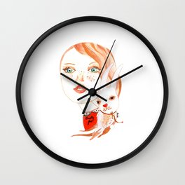 Real Beauty is without Cruelty Wall Clock