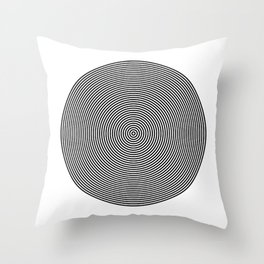 Hypnotic Circles optical illusion Throw Pillow
