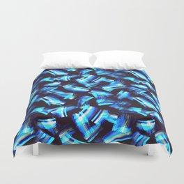 Acrilyc blue  brush strokes Duvet Cover
