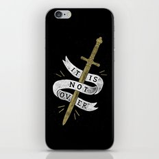 It Is Not Over iPhone & iPod Skin