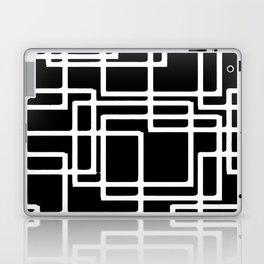 Interlocking White Squares Artistic Design Laptop & iPad Skin