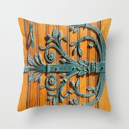Monte-Carlo Cathedral Door Hinge Throw Pillow
