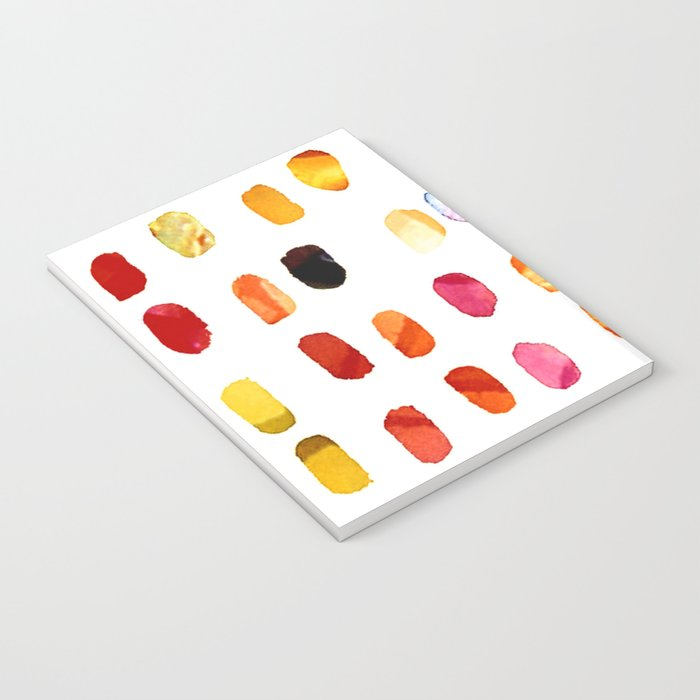 strokes of colors Notebook