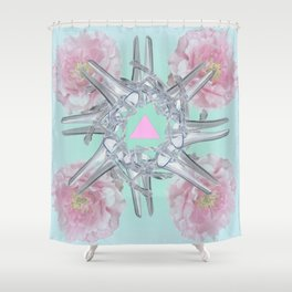 Halez Yea (in Mint) Shower Curtain