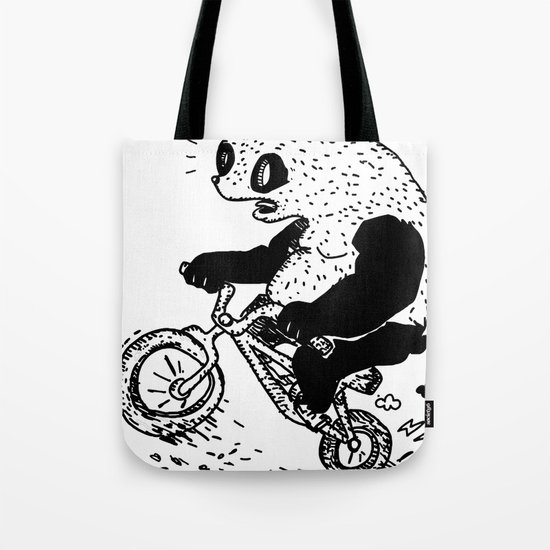 Dirt Jump Panda Tote Bag