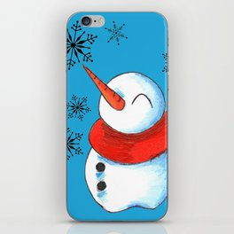 Snowmen and Snowflakes iPhone Skin