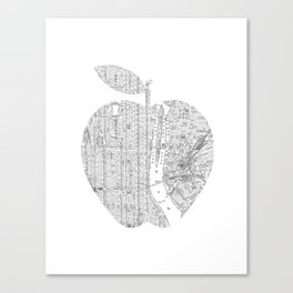 New York City big apple Poster black and white I Heart I Love NYC home decor bedroom wall art Canvas Print