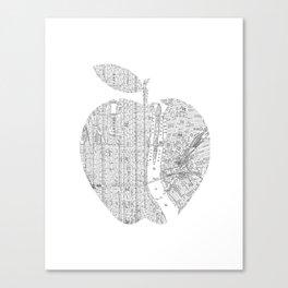 New York City big apple Poster black and white I Heart I Love NYC home decor bedroom wall art Canvas Print