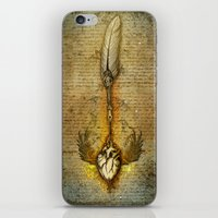 write iPhone & iPod Skins featuring write your heart out by Marine Loup
