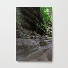 Rock forms in Starved Rock State Park Metal Print