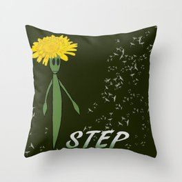 Dandeliono Character poster (STEP) Throw Pillow