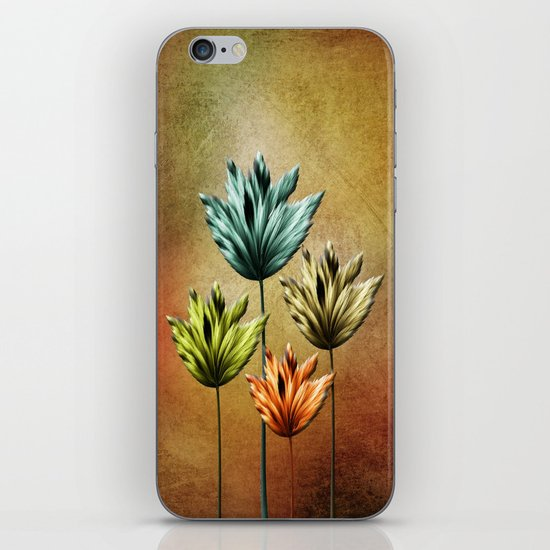 Four Fractal Flowers iPhone & iPod Skin