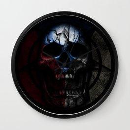 CZ skull flag II Wall Clock