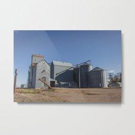 Elevators, Goodrich, North Dakota 1 Metal Print