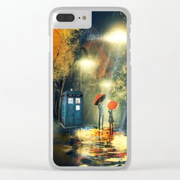 Tardis dr who Clear iPhone Case