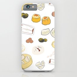 Dim Sum Pattern on White Background iPhone Case