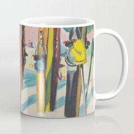 Valais Vintage Ski Travel Poster Coffee Mug