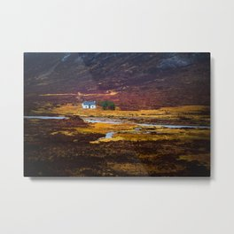 Tiny White House Metal Print