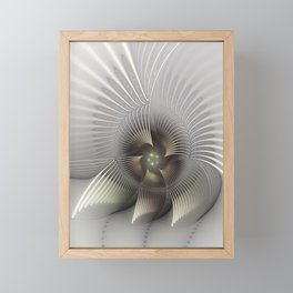 Stand Up, Abstract Fractal Art Framed Mini Art Print