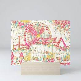 Santa Monica Pier - Art Mini Art Print