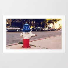 Hydrant National ∫ Living Los Angeles Art Print