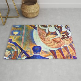 Georges Seurat Can Can Rug