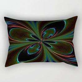 Neon Rainbow Digital Art Rectangular Pillow