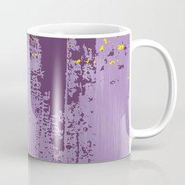 Grunge Paint Flaking Paint Dried Paint Peeling Paint Purple Yellow Lavender Coffee Mug