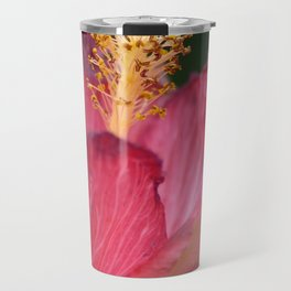 Pink Hibiscus Travel Mug