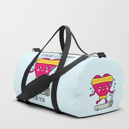 My heart goes faster for you Duffle Bag