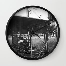 Charles Murphy in Police Monoplane - 1914 Wall Clock