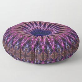 Pretty detailed mandala with purple star Floor Pillow