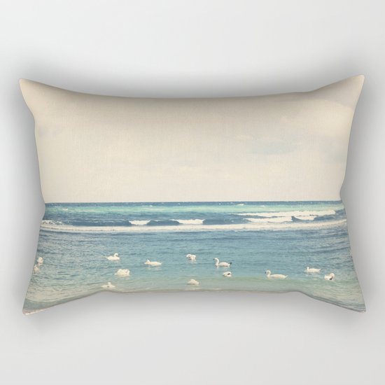 Swan Sea Rectangular Pillow