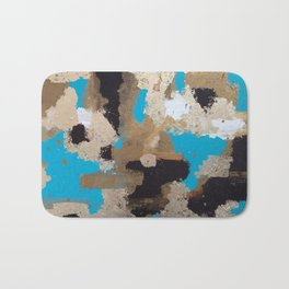 Turquoise and Gold Bath Mat
