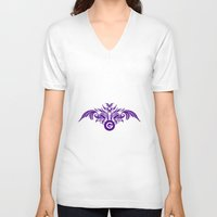 tatoo V-neck T-shirts featuring tatoo design by Azeez Olayinka Gloriousclick